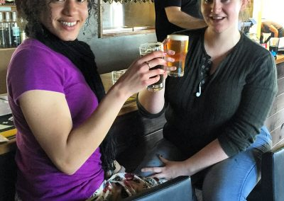 Girls having a beer at Steins BBWCT